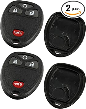 Saturn Key Fob Keyless Entry Remote Shell Case /& Pad fits Buick Cadillac Pontiac GMC Chevy