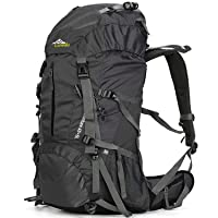 Deals on Loowoko Hiking 50L Travel Camping Backpack w/Rain Cover