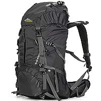 Loowoko Hiking 50L Travel Camping Backpack w/Rain Cover