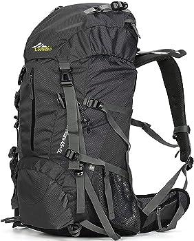 Loowoko 50-Liter Hiking Backpack with Rain Cover