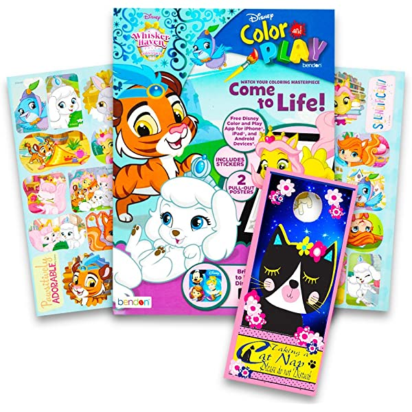 - Amazon.com: Disney Whisker Haven Palace Pets Coloring And Activity Book  With 2 Posters, Whisker Haven Stickers With Specialty Door Hanger: Toys &  Games
