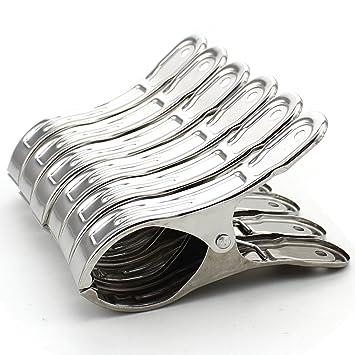 Amazon.com: Z Zicome Juego de 6 pinzas de acero inoxidable ...