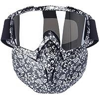 FOONEE - Máscara de motocicleta, resistente al viento, multiusos, anteojos tácticas, máscara desmontable CS/desierto para montar fuera de la carretera/esquí/moto de nieve/ciclismo/Halloween/bola de oscurecimiento