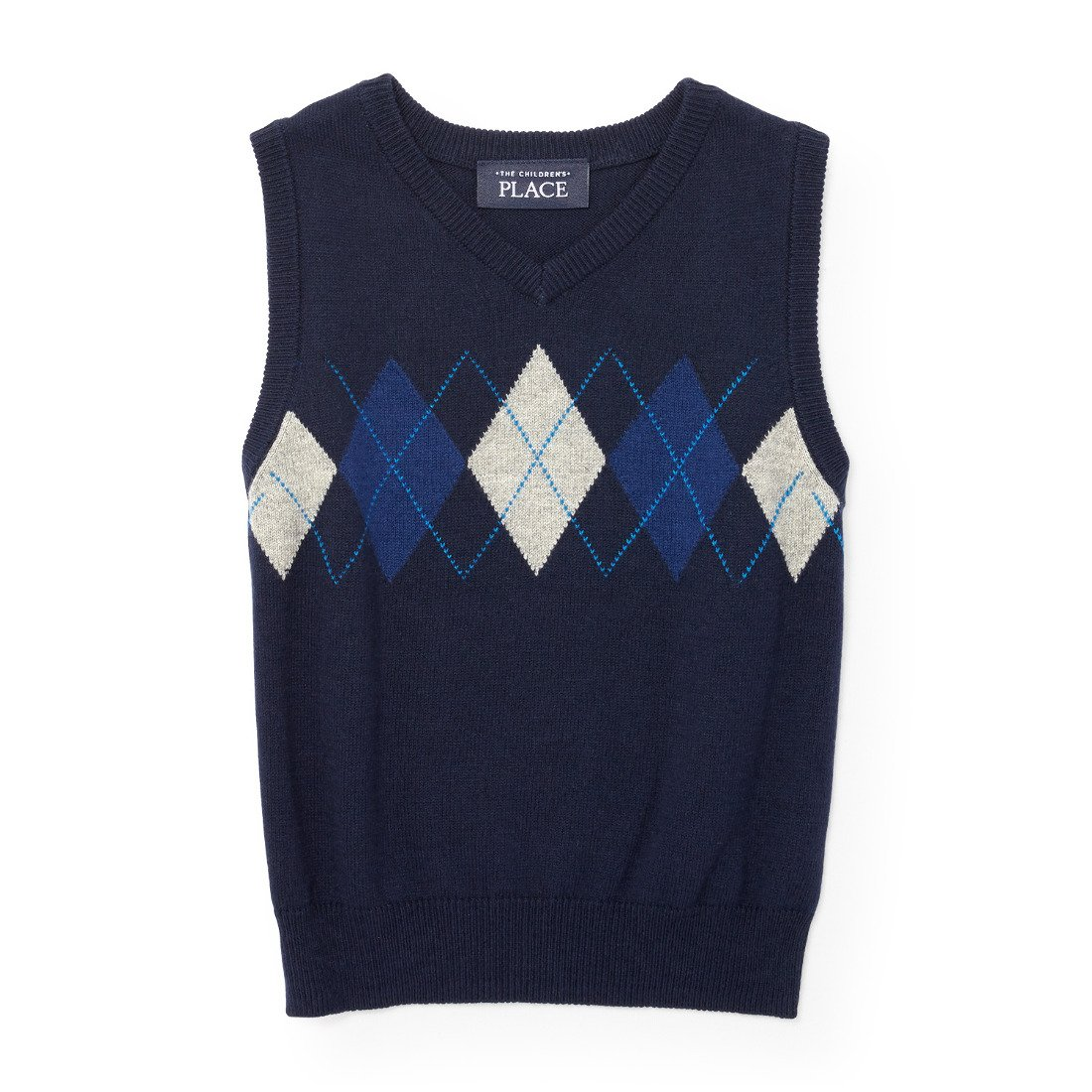 The Children's Place Boys' Argyle Sweater Vest