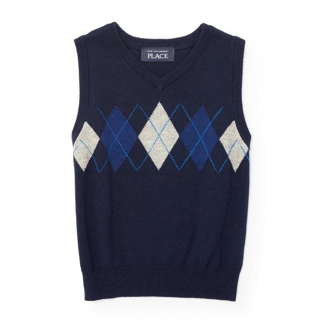 The Children's Place Boys' Argyle Sweater Vest, Tidal 94067, 18-24MONTH