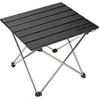 Trekology Portable Camping Side Tables Aluminum Table Top: Hard-Topped Folding Table in a Bag Picnic, Camp, Beach, Boat…