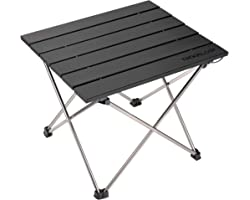 Small Folding Camping Table Portable Beach Table - Collapsible Foldable Picnic Table in a Bag - Mini Aluminum Side Table Ligh
