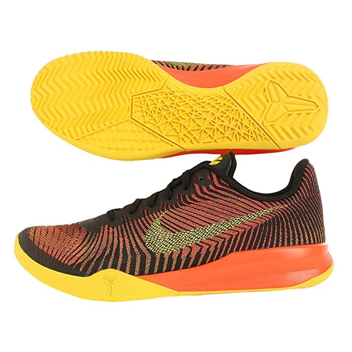 on sale e8fc2 c47f5 Nike Mens KB Mentality II Basketball Shoes (10.5 D(M) US, Black Tour Yellow-Total  Crimson)  Buy Online at Low Prices in India - Amazon.in