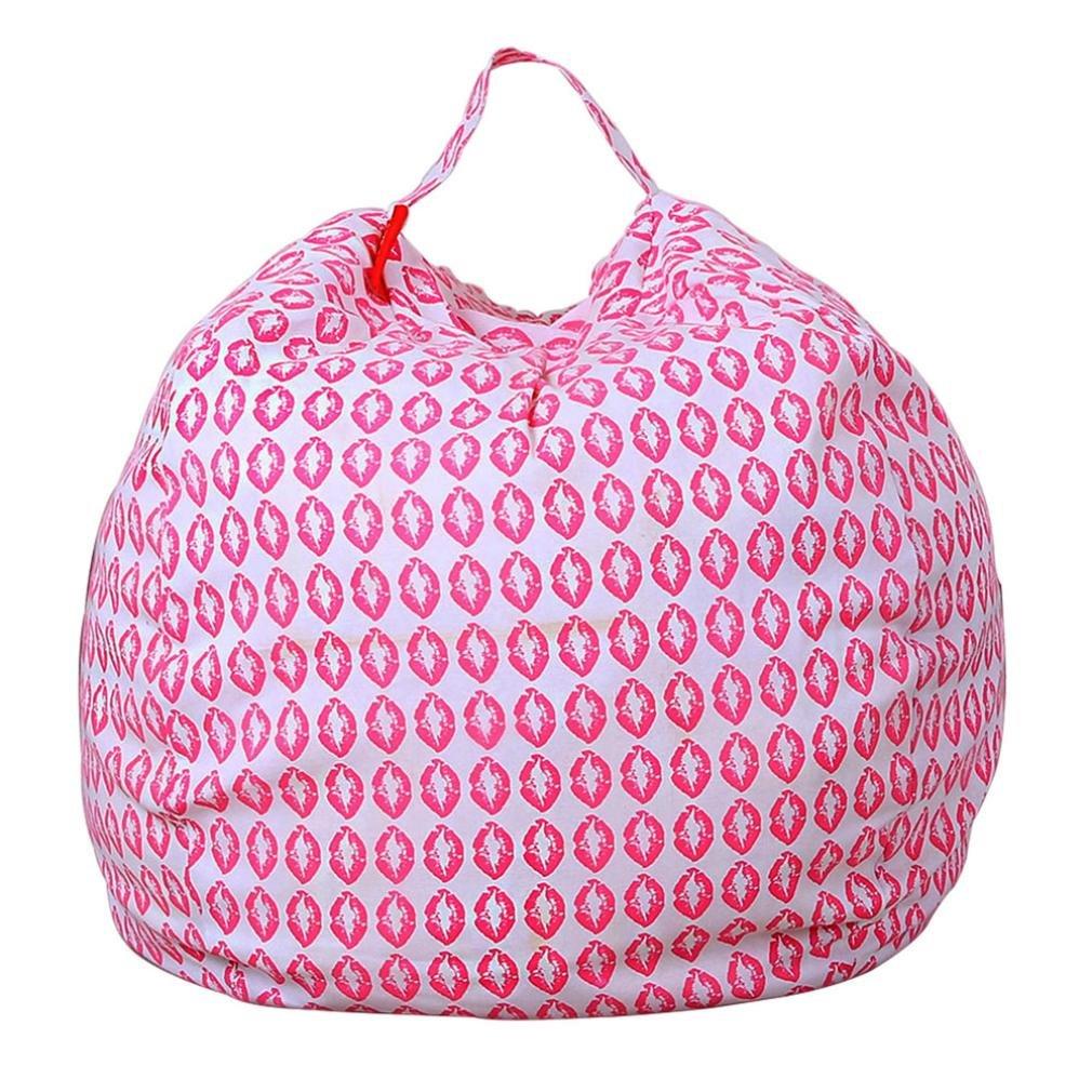 Squarex Kinder-Spielzeug-Bean Bag zur Aufbewahrung von Plüschtieren, weicher Sitzsack aus gestreiftem Stoff