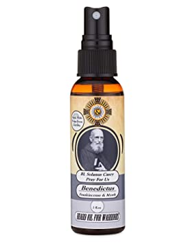 Catholic Beard Oil Made With Lourdes Water (Benedictus: Frankincense And Myrrh) by Glory And Shine
