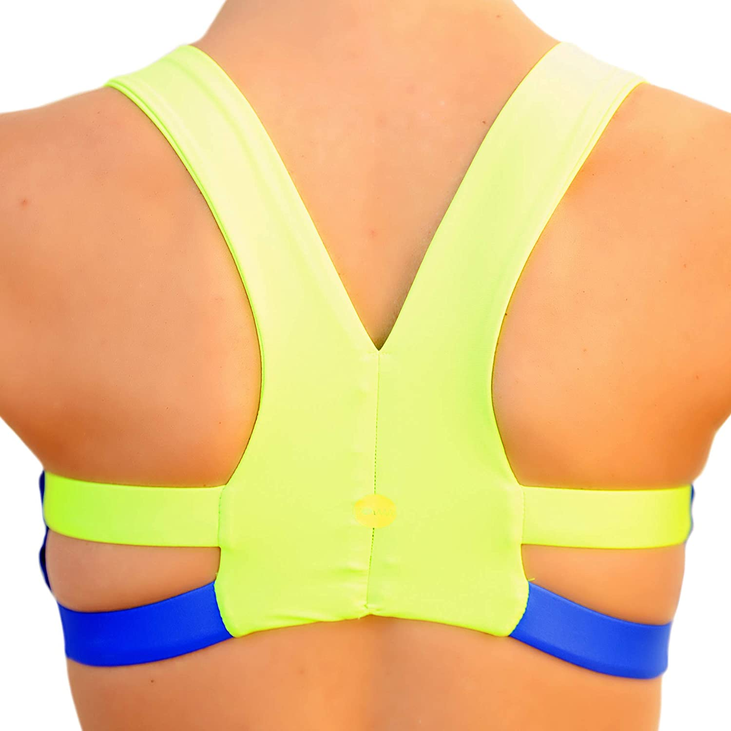 POWWFUL Sports Bra The Mag Mile Chafe-Free Straps Lightweight Soft Technical Fabric Medium Impact Support,