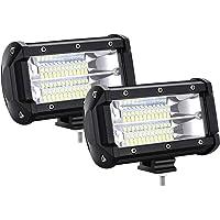 HENGMEI Led Faro de Trabajo 2X 72W Focos de Coche Luz antiniebla Focos LED IP67 Impermeable para Camiones Todo Terreno…
