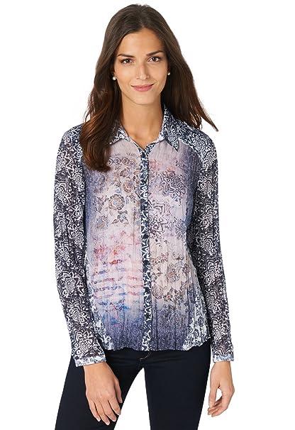 3b21f0de5e Bonita - Camisas - para mujer blanco roto 46  Amazon.es  Ropa y accesorios