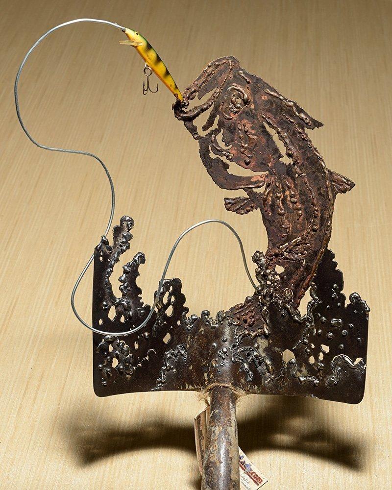 Amazon.com: Metal Art Jumping striking fish - Hand (plasma) Cut ...