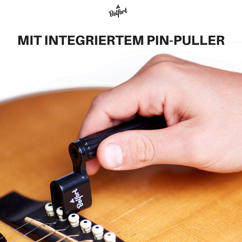Belfort Premium Cuerdas Manivela para cuerdas más rápido Cambiar ☆ Bonus: 3 púas + Ebook ☆ eje Cuerdas para guitarra acústica, guitarra acústica, ...