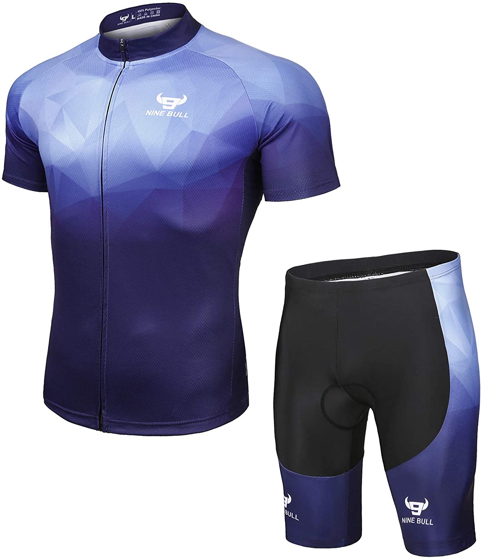 Shorts Suit Yellow T-shirt Mens Summer Top Clothing Bike Road Cycling Jersey