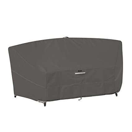 Classic Accessories Ravenna Deep Seated Patio Curved Modular Sectional Sofa  Cover   Premium Outdoor Furniture Cover
