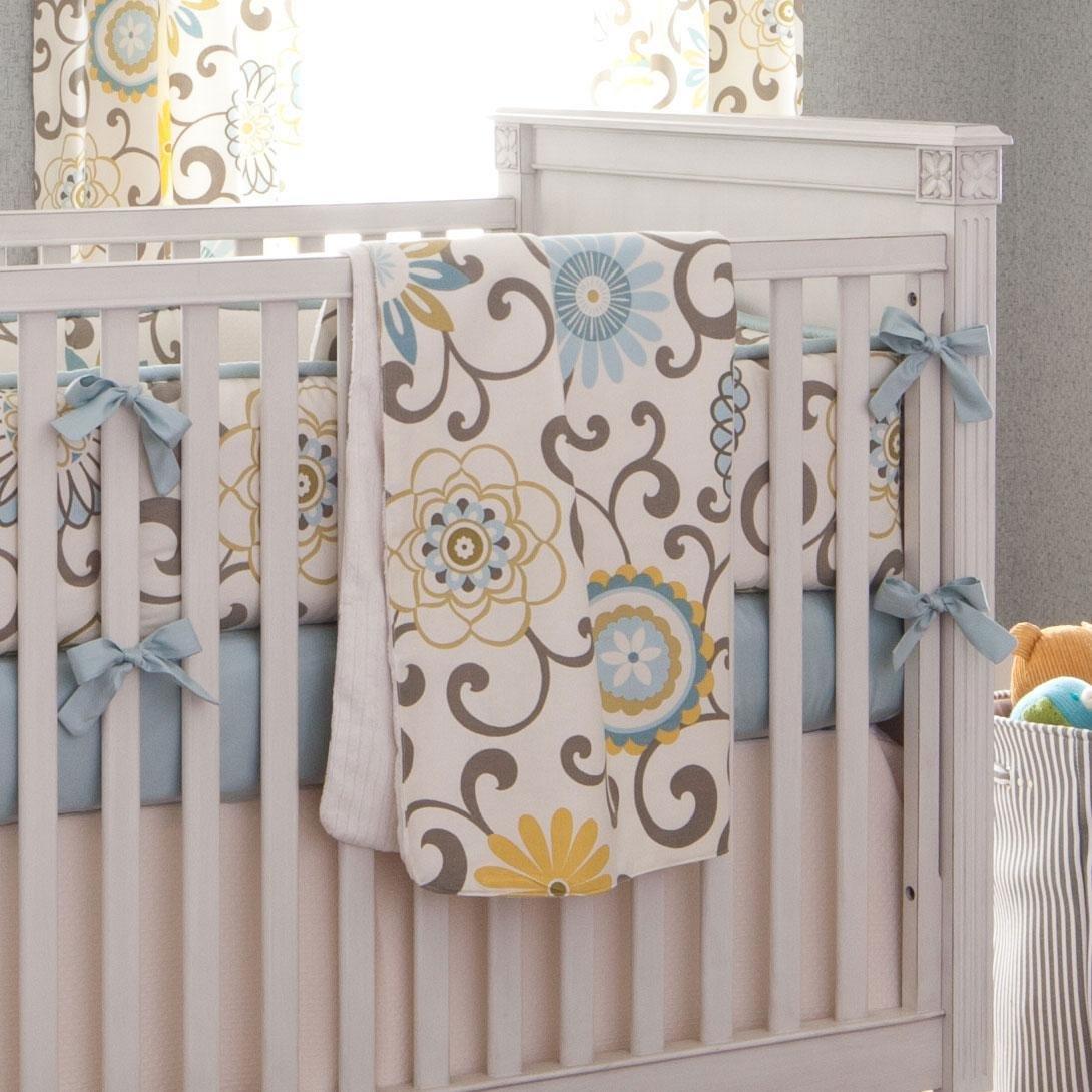 Carousel Designs Spa Pom Pon Play Crib Blanket