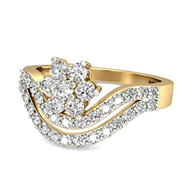 901a90f12 Buy PC Jeweller The Anne Marie 18KT Yellow Gold & Diamond Rings Online at Low  Prices in India | Amazon Jewellery Store - Amazon.in
