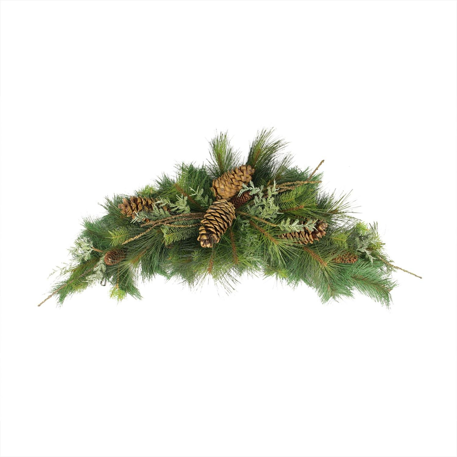 Allstate 38'' Pine Cone, Twig, Mixed Long Needle Pine Artificial Christmas Swag - Unilt