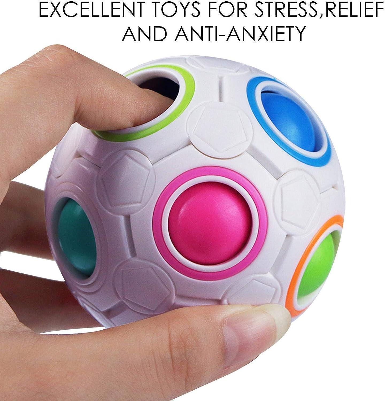 Pop Bubble Fidget Sensory Toy Fidget Toys For Kids and Adults Flippy Chain Assortment For Birthday Party Favors 22pcs Sensory Toys Set For Autism Squeeze Beans