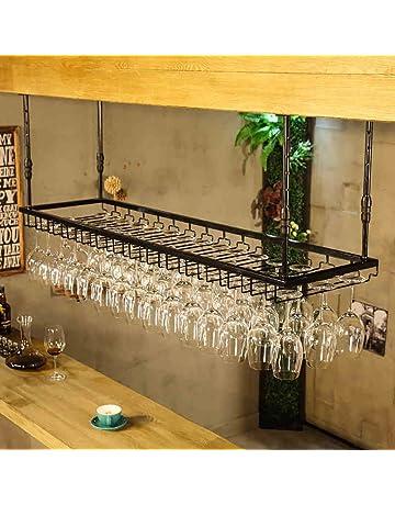 JHGJBJ Soportes para Copas Sostenedor del Vidrio de Vino Sostenedor del cubilete Colgando Estante del Vidrio