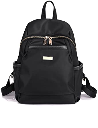 Amazon.com | Luckysmile Water-resistant Nylon Backpack Purse ...
