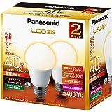 パナソニック LED電球 口金直径26mm 電球40W形相当 電球色相当(4.9W) 一般電球・広配光タイプ 2個入 密閉形器具対応 LDA5LGK40ESW2T