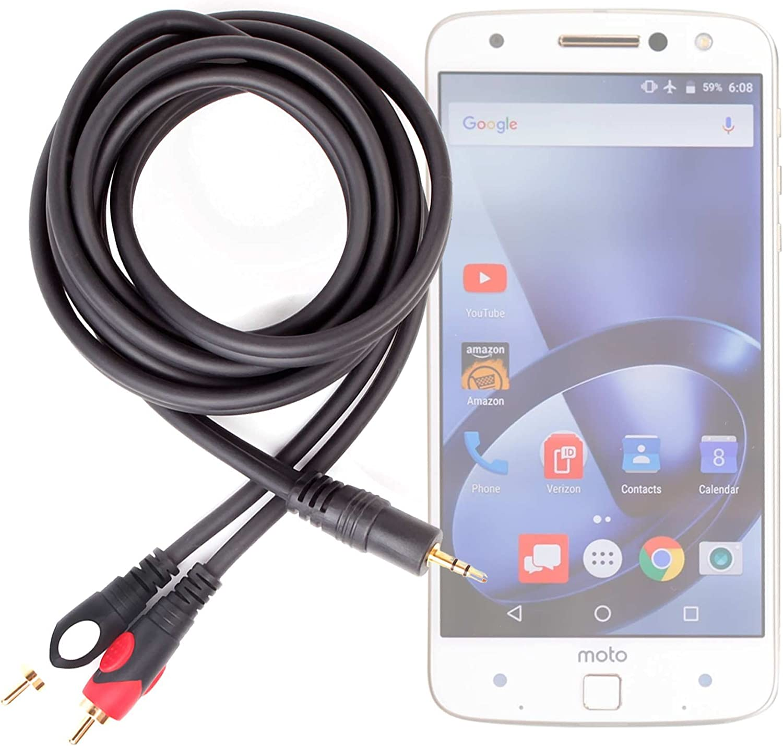 DURAGADGET Excelente Cable De Audio Minijack/RCA para Smartphone Lenovo Moto Z/Moto Z Force/Phablet Lenovo PHAB2 / Pro/Plus: Amazon.es: Electrónica