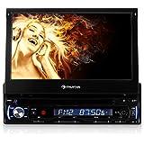 Auna DTA90 - Radio para coche (AM, FM, LCD, 4:3, 16:9, Negro, SD, SDHC)