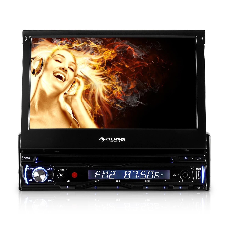 auna MVD-310 • Autoradio • Car-Radio • Moniceiver • 17,8 cm (7') Touchscreen Display • Bluetooth • USB- & SD-Slot • AV-Eingang • UKW-RDS-Tuner • MP3, MP4, MPEG4 • abnehmbares Bedienteil • schwarz