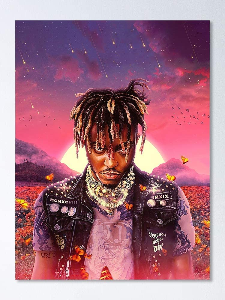 Amazon Com Juice Wrld Legends Never Die Album Poster Perfect For Bedroom Home Decor Great Gift For Music Lovers And Your Friends 17 X 22 5 No Frame Board Posters Prints