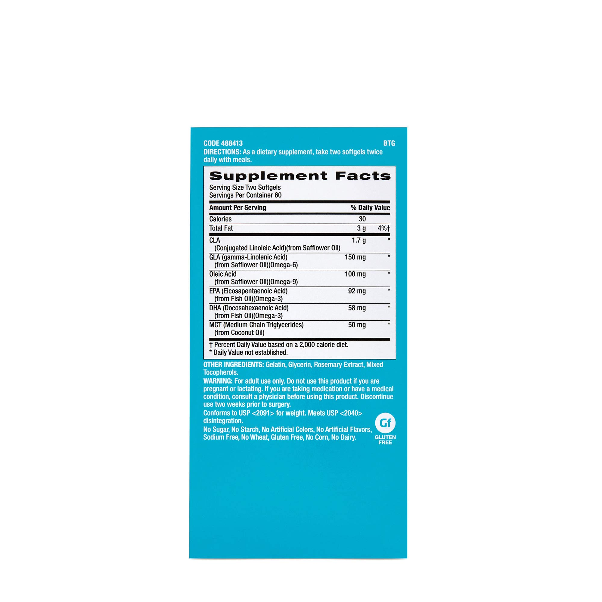 GNC Total Lean Advanced Premium CLA 3-6-9, 120 Softgel Capsules, Supports Exercise and Muscle Recovery by GNC (Image #2)