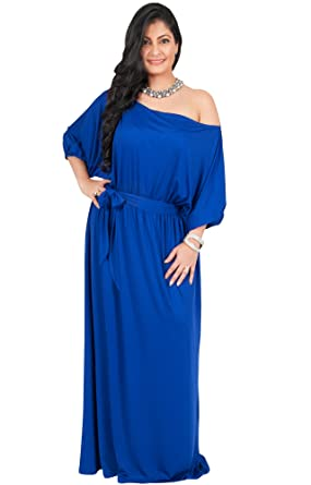 Royal Blue Cocktail Dress Plus Size