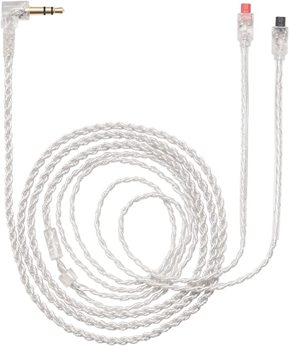 OFC Silver Plated Upgrade Audio Cable For Audio Technica ATH-IM04 IM03 IM02 IM01