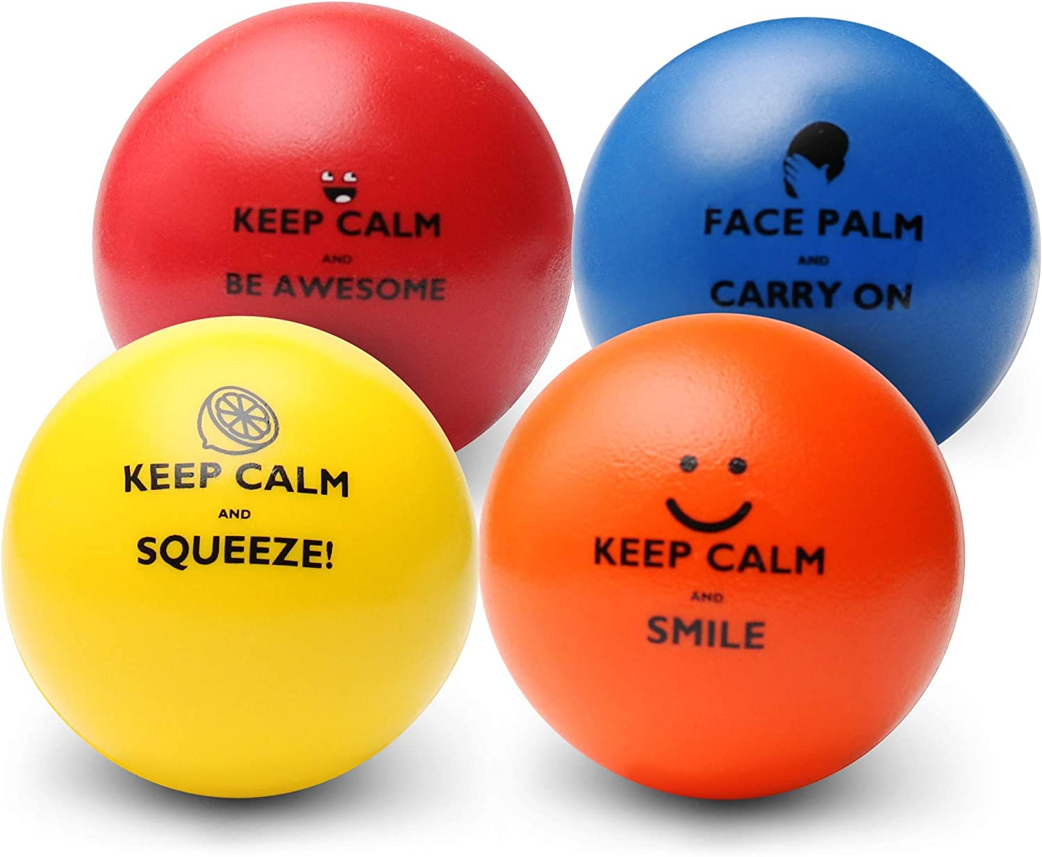 "Pure Origins® |""Keep Calm"" Funny Motivational Stress Balls 