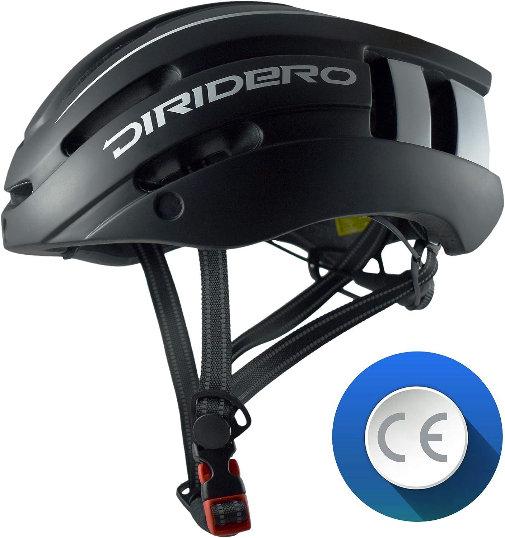 LAOZI Casco da Bicicletta Leggero a LED Casco da Bicicletta Skateboard Elettrico Ruota da Skateboard Casco da Ciclismo Leggero