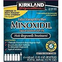 Kirkland Signature Minoxidil 5 Percentage Extra Strength Hair Loss Regrowth Treatment Men   ⭐️ Exclusive