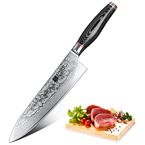 High Carbon Stainless Steel Kitchen Knives | Amazon Com Kitchen Knife Xinzuo 8 Inches Damascus Chef Knife High