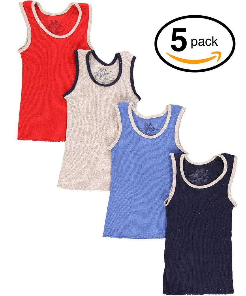 Fruit of the Loom Boys' and Toddler Boys' A-Shirt (Pack of 5) 5P501T