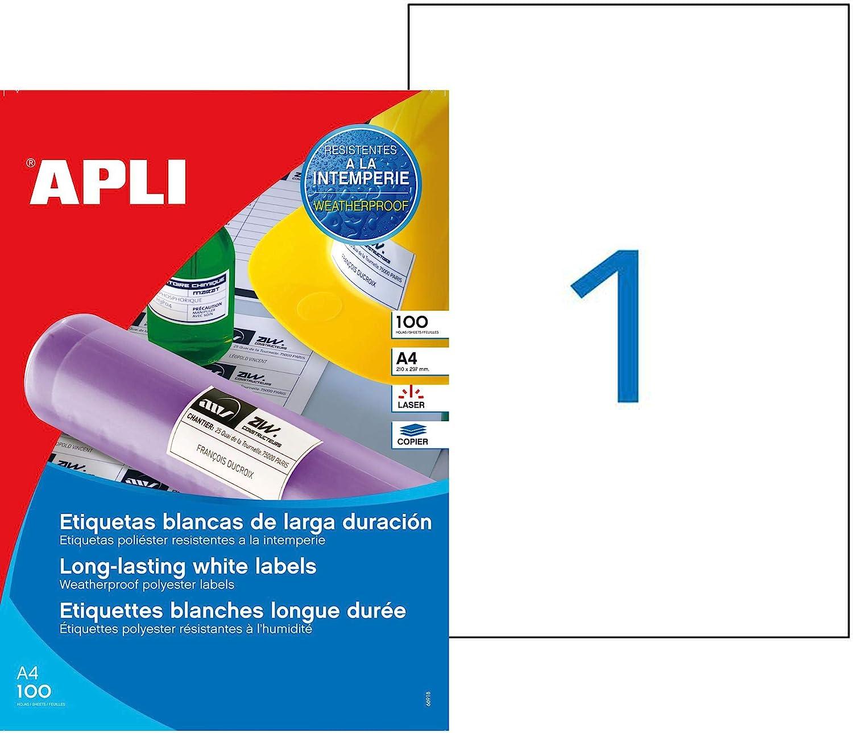 agipa 101168 Wetterfeste Folien-Etiketten wei/ß 210 x 297 mm
