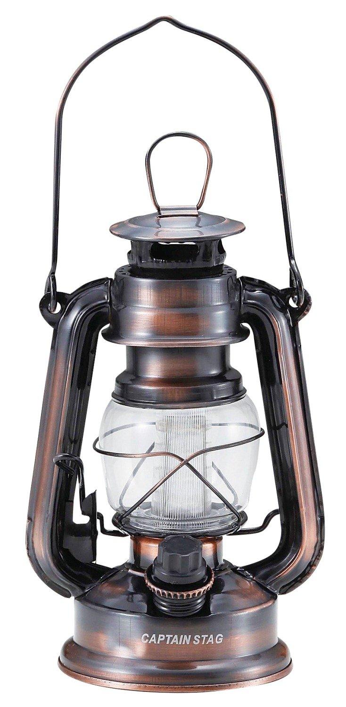 キャプテンスタッグ アンティーク風ランタン アンティーク暖色LED ランタン ブロンズ M-1328
