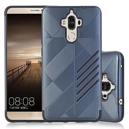 Xinantime Funda para Huawei Mate 9, Caso de Caucho Blando Carcasa para Moviles (Azul)