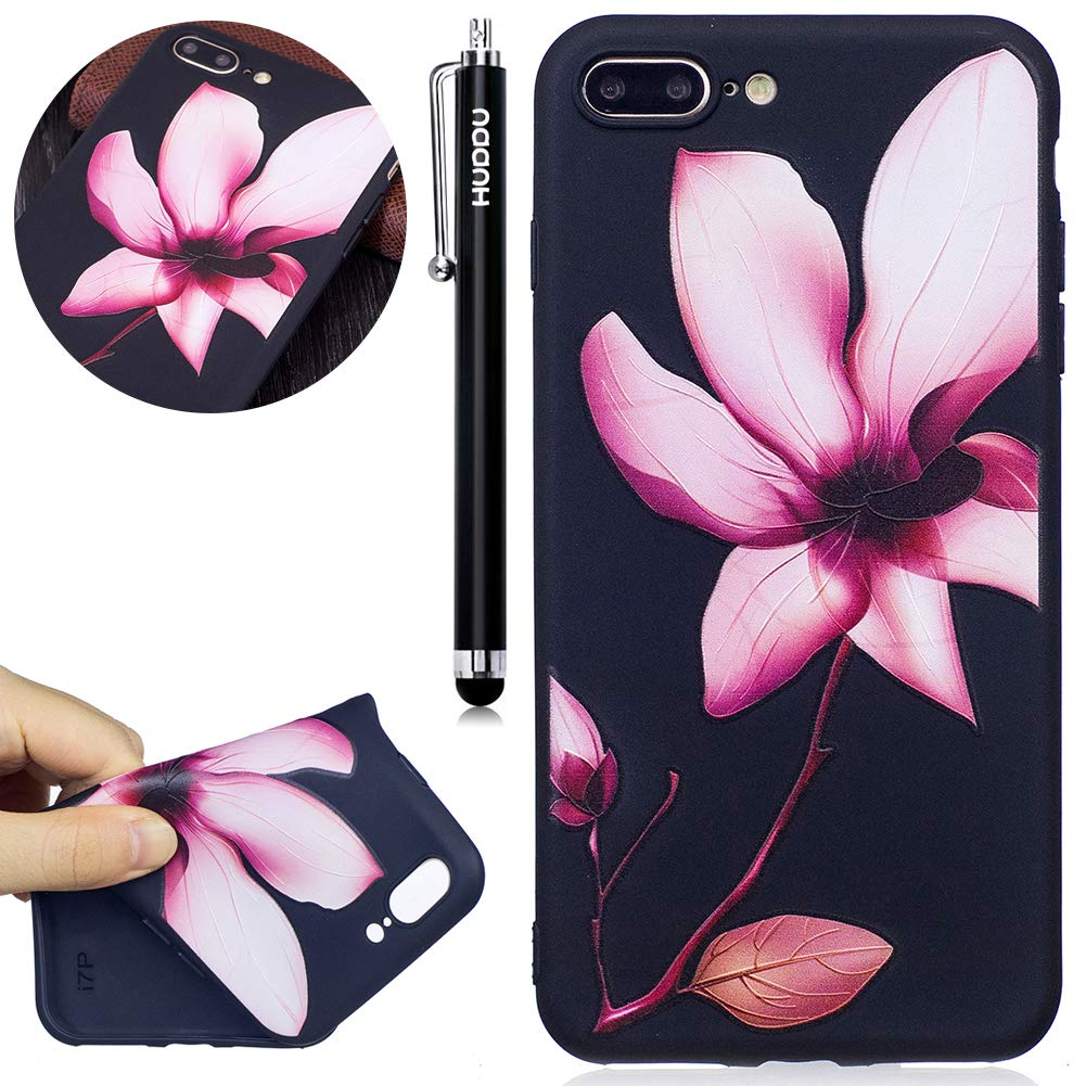 HUDDU Compatible for Schutzh/ülle iPhone 7 Plus//iPhone 8 Plus Silikon Handy H/ülle Eule Mond Muster Motiv Handyh/ülle 3D Karikatur Case Weich Soft Flexibel TPU Back Cover Crystal Sto/ßfest Scratchproof