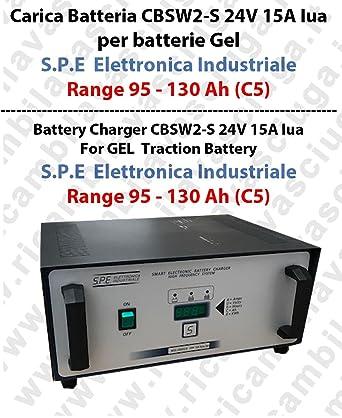 Cargador de batería cbsw2-s 24 V 15 A IUA para pilas Gel ...