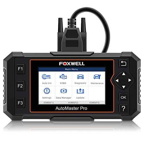 FOXWELL NT614 Elite OBDI & OBDII Car Diagnostic Tool Transmission Engine  ABS Airbag EPB Tool with Service Light Reset (Enhanced 2019 Version)