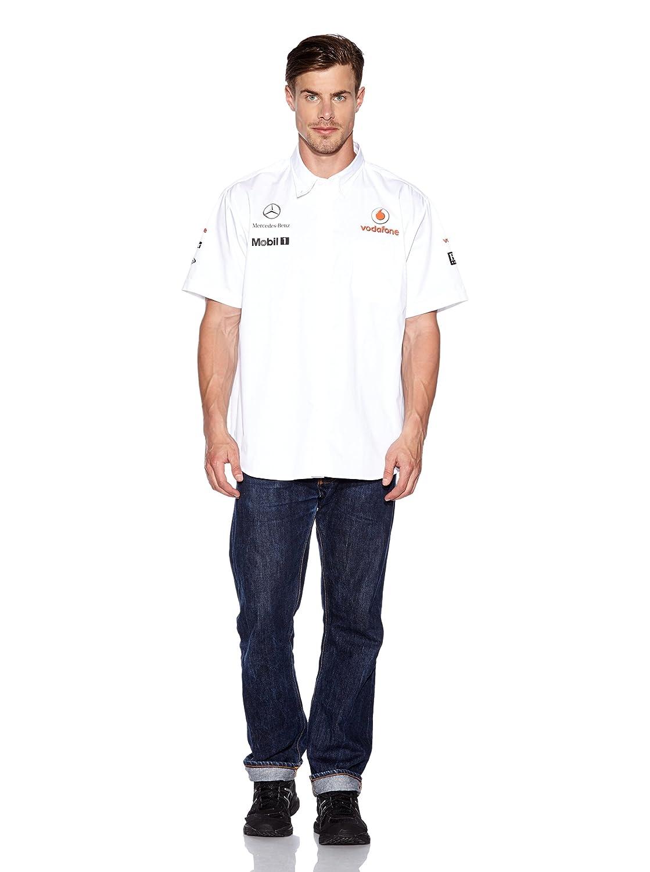 Mclaren Mercedes Vodafone Hombre Patrocinadores Team Camisa Blanco ...