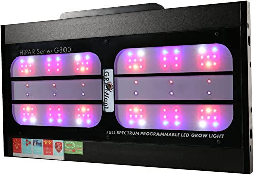 LED Grow Lights Smart Full Spectrum with UV IR Tunable, 800 Watts OSRAM Horticulture LEDs, GROWant G5Pro HiPAR Series G800 Black, 5 Channels Full Power Dimmable for Indoor Plants Veg and Flower