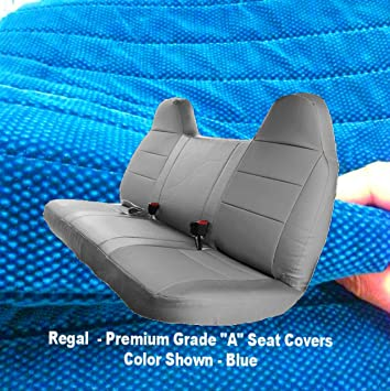 Muddy Water Camo RealSeatCovers for Front Solid Bench Thick F23 Molded Headrest Belt Cutout Exact Fit Seat Cover for Ford F150 F250 F350 F450 F550 F-Series 1992-2010