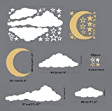 Moon, Stars and Clouds Wall Decals, Kids Wall